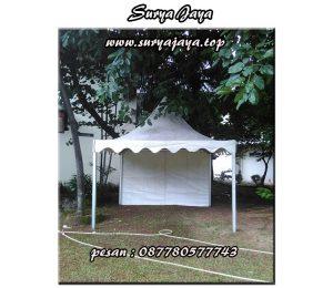 penyewaan tenda kerucut berbagai macam ukuran tersedia