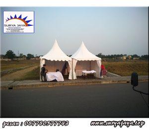 perentalan tenda kerucut di daerah tanggerang