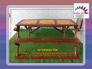 meja taman lipat