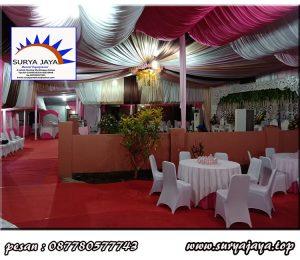 pusat perentalan tenda konvensional termurah siap untuk mensukseskan acara wedding anda