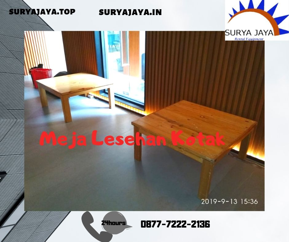 Sewa Meja Lesehan Kotak Jakarta Pusat