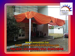 sewa tenda plafon rumbai orange