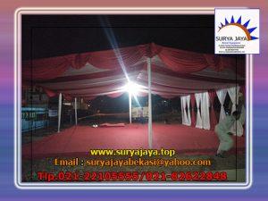 sewa tenda konvensional dekorasi serut