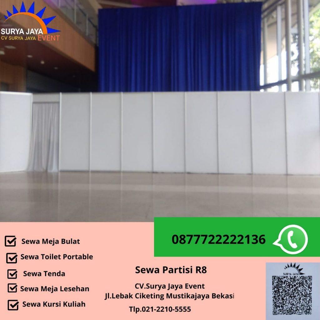 Sewa Partisi R8 Murah Berkualitas Jakarta
