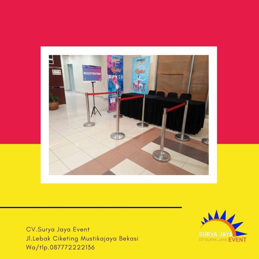 Sewa Tiang Pembatas Antrian Bandung Siap Antar Pelayanan 24 Jam