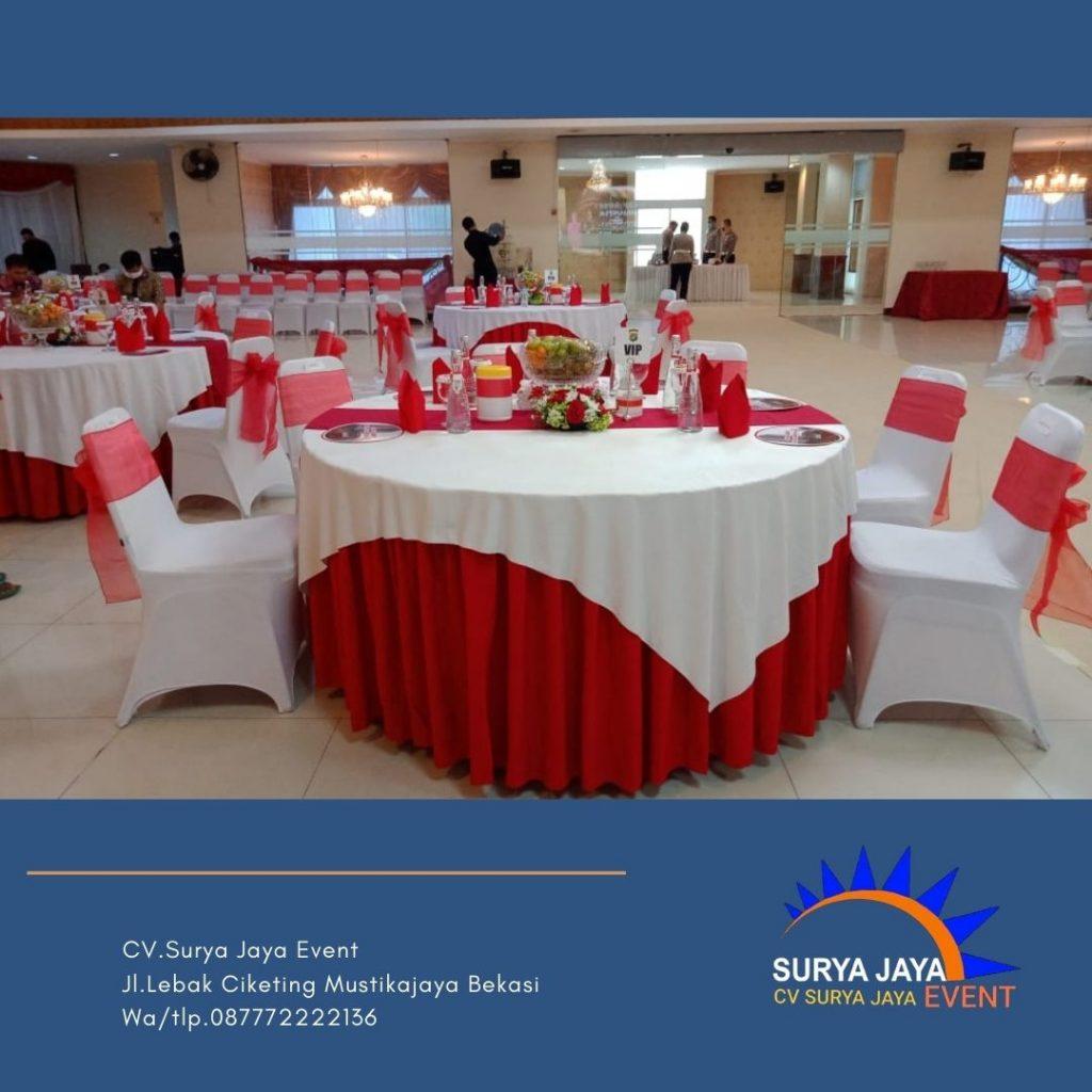 Sewa Round Table Tangerang Lengkap Dengan Taplak Meja