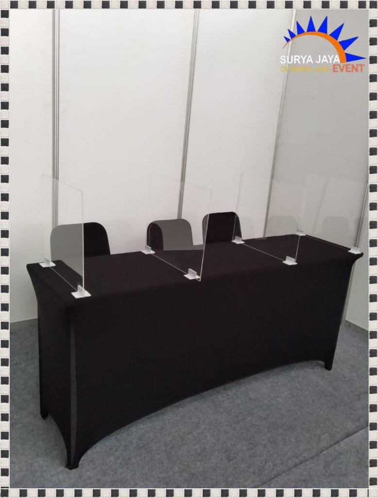 Sewa Meja Ibm Dilengkapi Dengan Penyekat Acrylic Siap Kirim