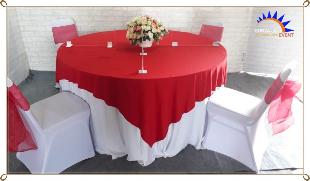 Sewa Round Table Dan Sekat Acrylic Di Bekasi