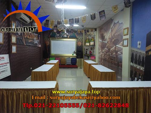 Sewa Meja Kotak Cover Gold Hanas Tour And Travel Kalibata Jakarta Selatan
