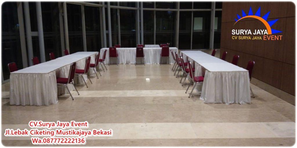 Sewa Meja Kursi Untuk Event Vaksin Di ICE BSD Tangerang
