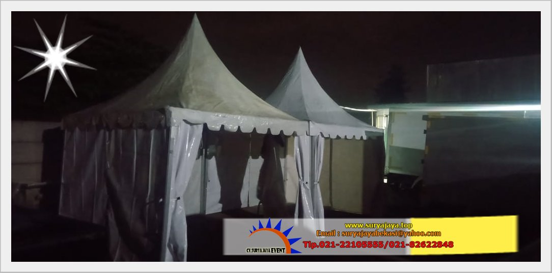 Sewa Tenda Kerucut atau Sarnavil Event Kirana Catering Bekasi