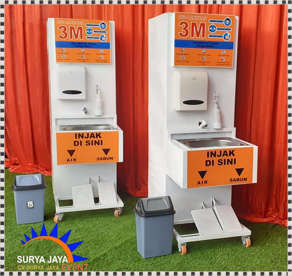 Sewa Tempat Cuci Tangan Portable Dengan Sistem Injak Pedal