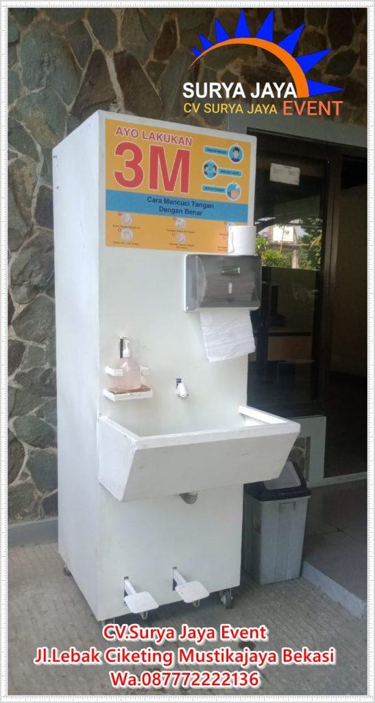 Sewa Wastafel Portable Injak Pedal Alat Cuci Tangan