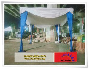 Sewa Tenda Serut Dan Plafon Biru Putih